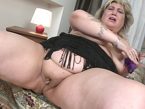 Fretting her delicious pussy makes Margareta moan loudly