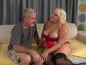 Fat Floozy Jade Rose Sucks a Thick Cock and Gets Will not hear of Pussy Fucked Bigtime