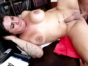 Student knows busty preceptor has a penis and adores anal banging