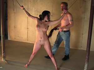 Brunette MILF enjoys being tied not fail her mouth filled apropos cock