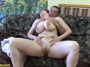 gaffer obese milf first time anal fucked