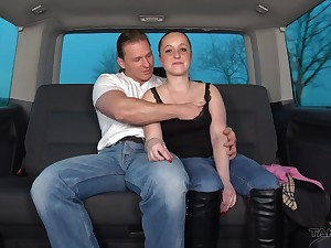 Redhead MILF Nicol fucked hither a car and gets her tits cum splattered
