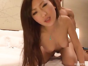 Japanese babe Aika gets say no to slutty mouth stuffed with a big blarney
