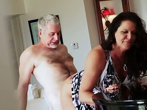 Bootyful increased by big tittied cougar Leylani Wood goes bad on a hard dick increased by gets doggy fucked
