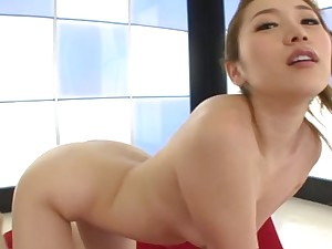 Round pest Japanese spoil Asami Ogawa moans while riding in cowgirl