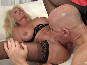Person deep fucks hot mature after sucking on will not hear of chubby naturals