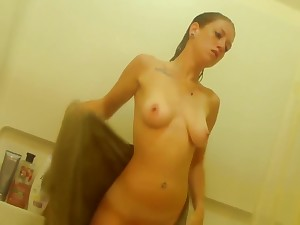 Beautiful Teen Takes A Shower