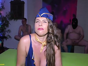 chesty stewardess posh susi exhausting assfuck soiree humped