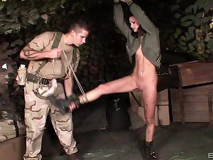 Skinny girl Lulu Martines enjoys being tied up and tortured