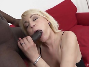 Matured gripe Adriana Love grants ass access to a black man