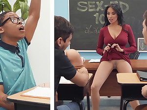 Sumptuous professor shag college girl with Chubby Unscrupulous COCK in the class