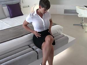 Sexy secretary wet rags fantasy