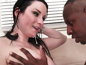 Tattooed dude finally talked Veruca James come by banging on touching him
