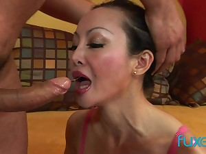Asian MILF Angie Venus anal fucking added here deep pain in the neck here mouth sucking