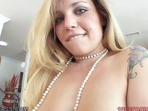 Cute pierced nose on a naughty festival cocksucker