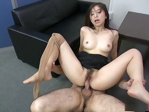 Adorable Yuka Tsubasa is having fun at feign