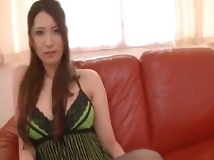 Asian Foot Job Legs Together with Stockings Fetish