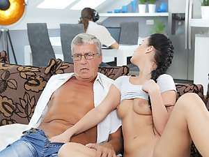 DADDY4K. Erica will never forget hotness erection out with dad of...