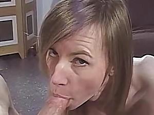 Skinny milf strips nude then sucks a big hard weasel words
