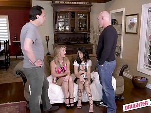 Hardcore foursome with cumshots for Kate Kennedy and Harmony Wonder