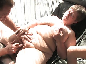 Mature dark haired MILF babes ride younger cocks in an orgy