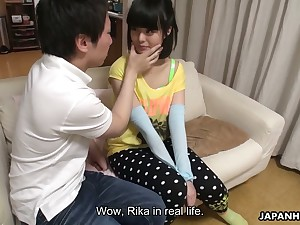 This Japanese spread out loves having her pussy toyed and she is hella cute