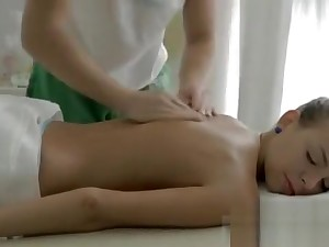 Chubby bowels Massage finishes up in sex