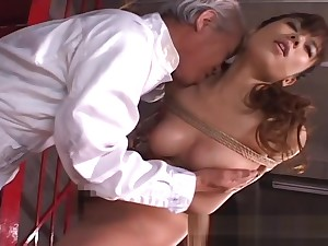 Dudes telegraph her on touching and she gets toy fucked