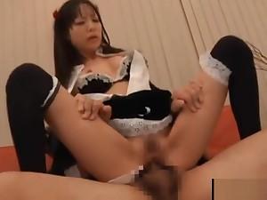 Asian maid gets nailed upskirt