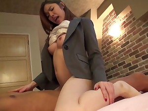 Amateur Japanese businesswoman picked more on chum around with annoy streets and fucked