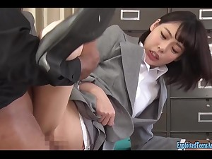 Jav Get the hang Yua Nanami fucks black customer on cloths table and new store opening