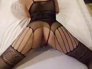a hot Chinese babe in bodysuit gets fucked in amateur making love video.