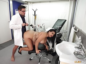 Busty Latina wife goes to the young doctor for a operative stoppage