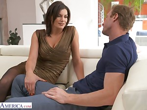 Buxom pretty sexpot with rounded booty Becky Bandini is poked distance from behind