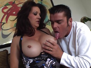 Nasty Dark Hair Mature With Big Breasts Gets Pounded - raquel devine