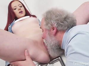 Young Tiffani Love gets fucked by a senior sponger with an increment of she loves hose down