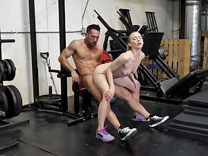 Sex at the gym always makes the spliced keep off fit