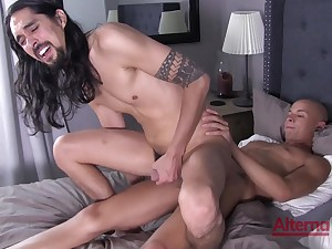 Excellent hard lovemaking alongside anal scenes be expeditious for one gay lovers