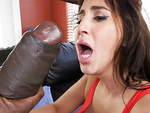 Latina rescuer get an orgasm distance from monster unearth
