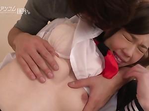 cute unproficient teen Misaki Yoshimura rough sex