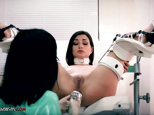 Imbecile nurse, Minerva is toying with Valentina Bianco, while they are unparalleled in the office