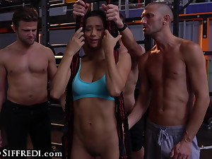 Veronica Leal Gets Gangbanged In A Gym Measurement Training