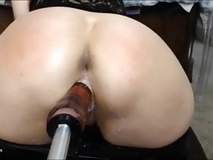 Very hot Sinister Haired Teen is Fucking her Pussy and Asshole.